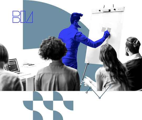 Illustratie van een BIA aan het werk