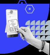 Illustratie van Design Thinking proces