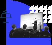 Illustratie van keynotes & talks