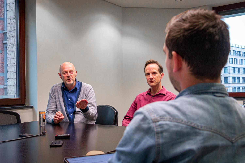 Interview met Paul Danneels in het Fednot kantoor